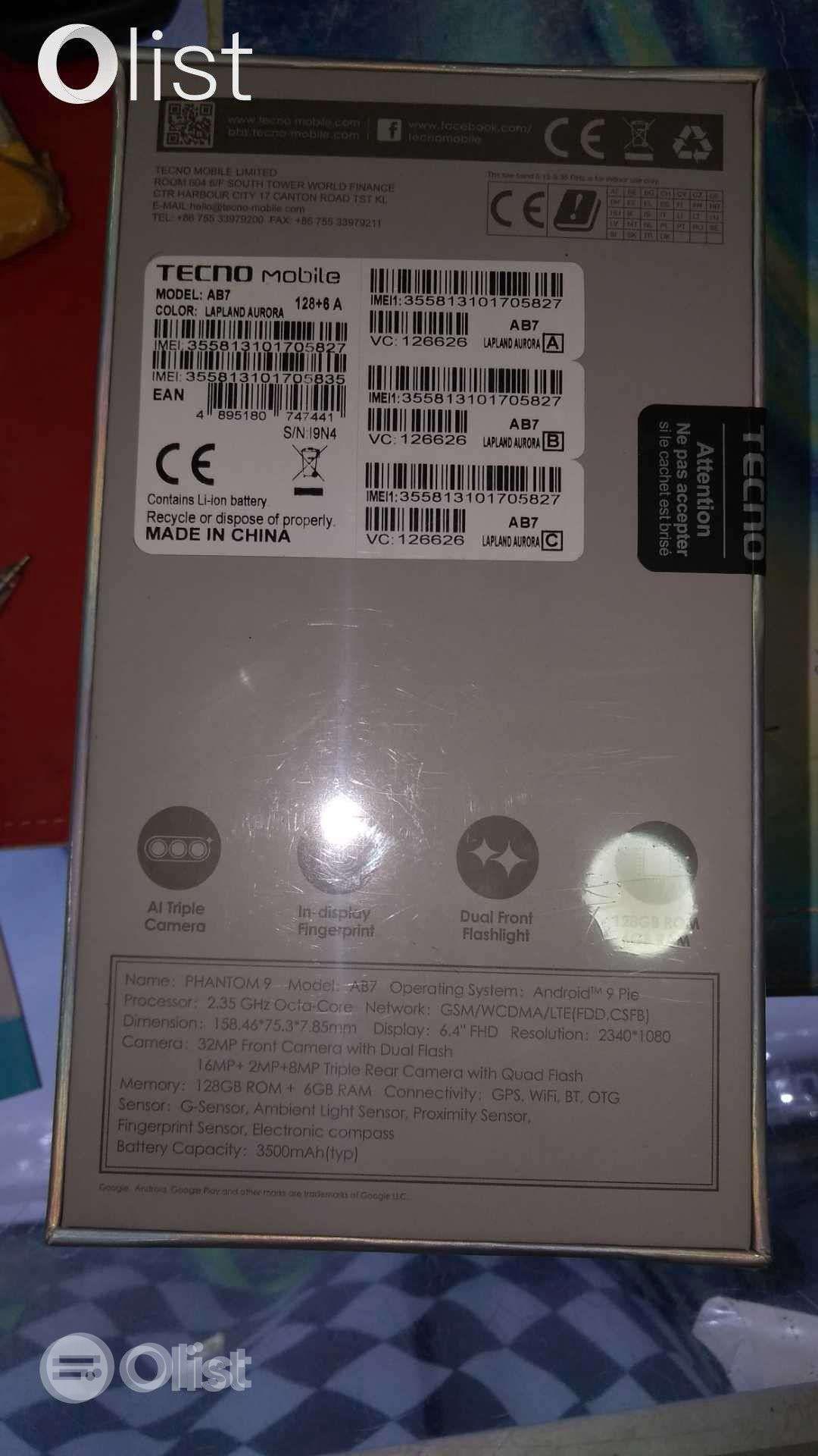 Used 64 GB  Tecno Phantom 9