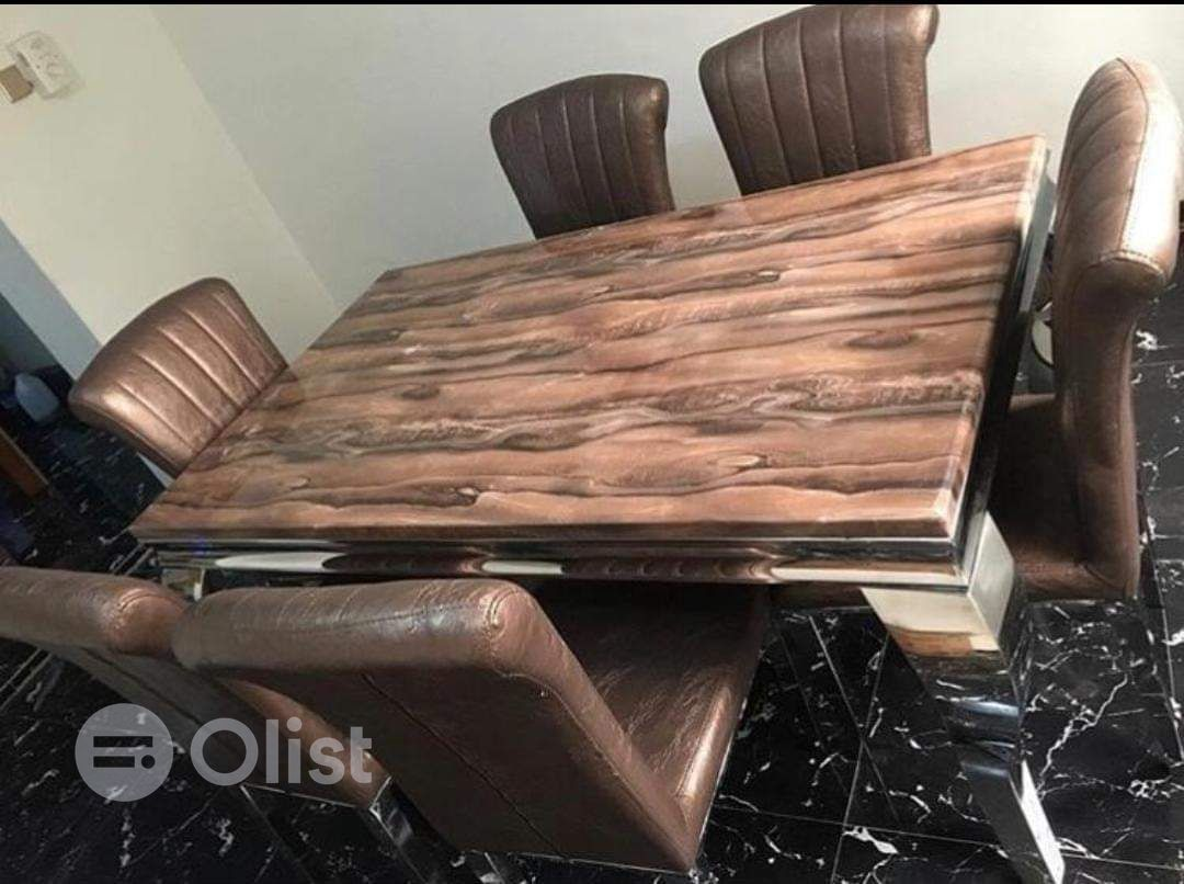 Quality and Durable Marble dining table with six chairs