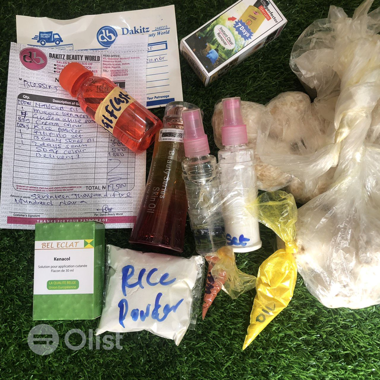 Organic raw materials for soaps and creams