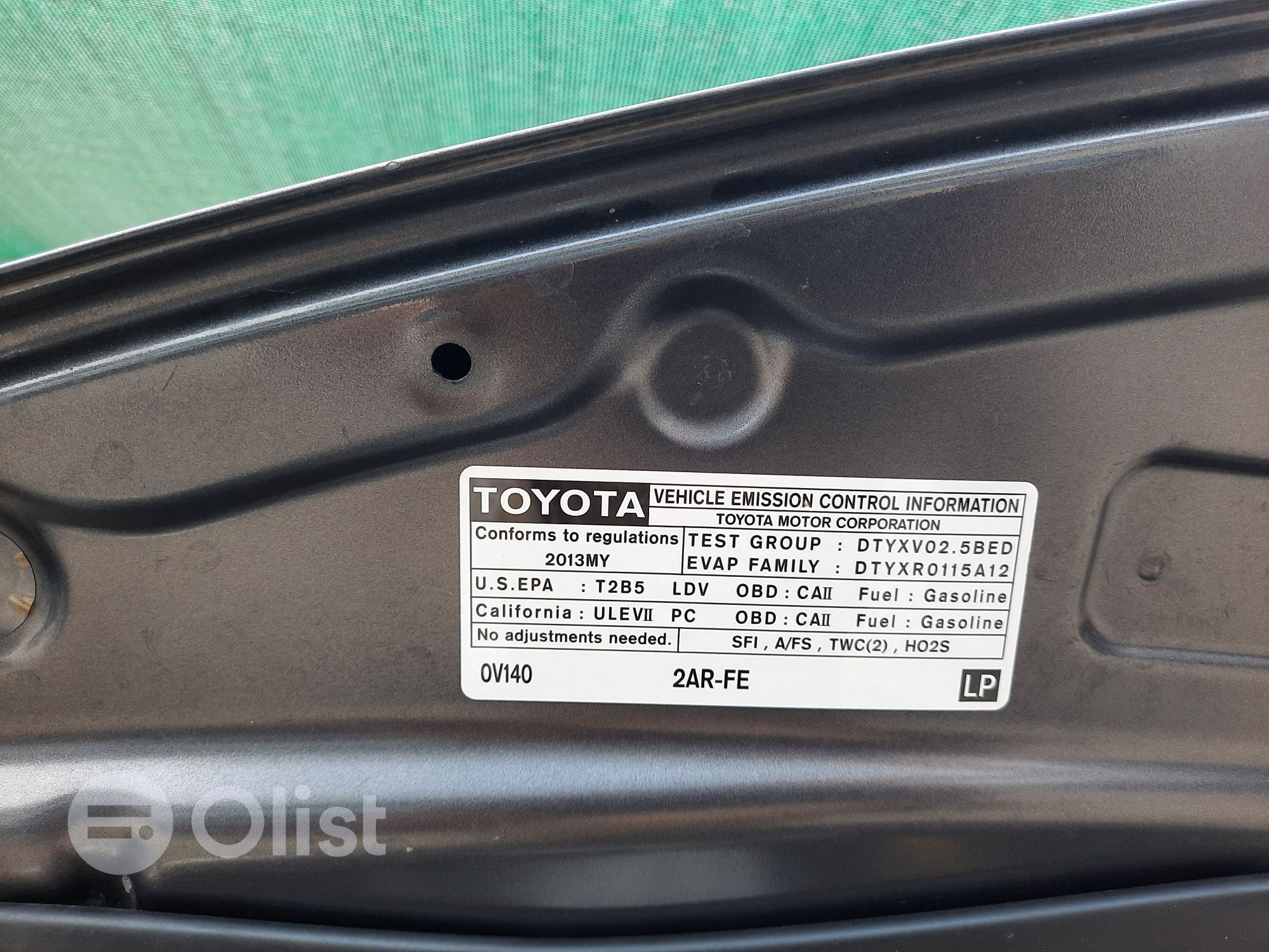 2013 Toyota Camry Gray Automatic Foreign Used