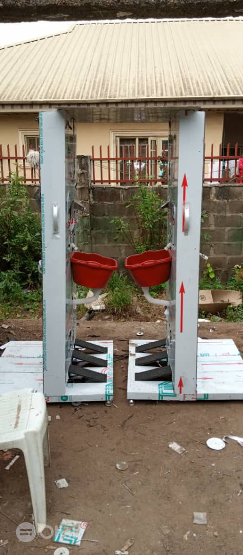 FABRICATION OF FOOT OPERATED HAND WASHING AND SANITIZING MACHINES
