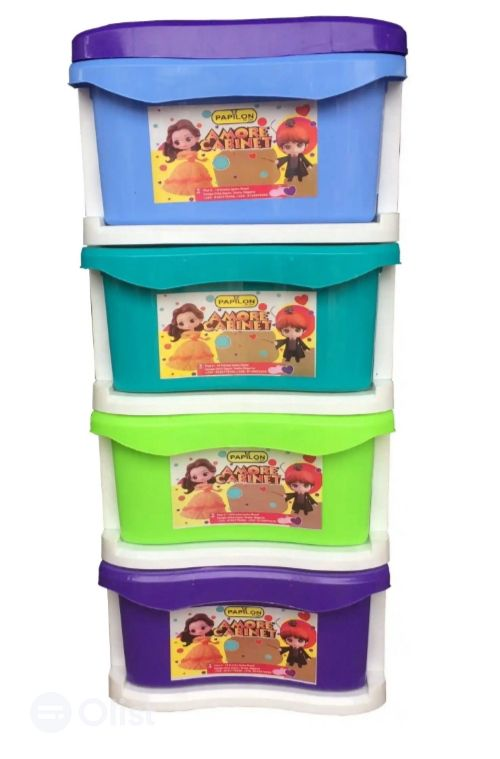 Colourful Four Set Plastic Baby Drawer