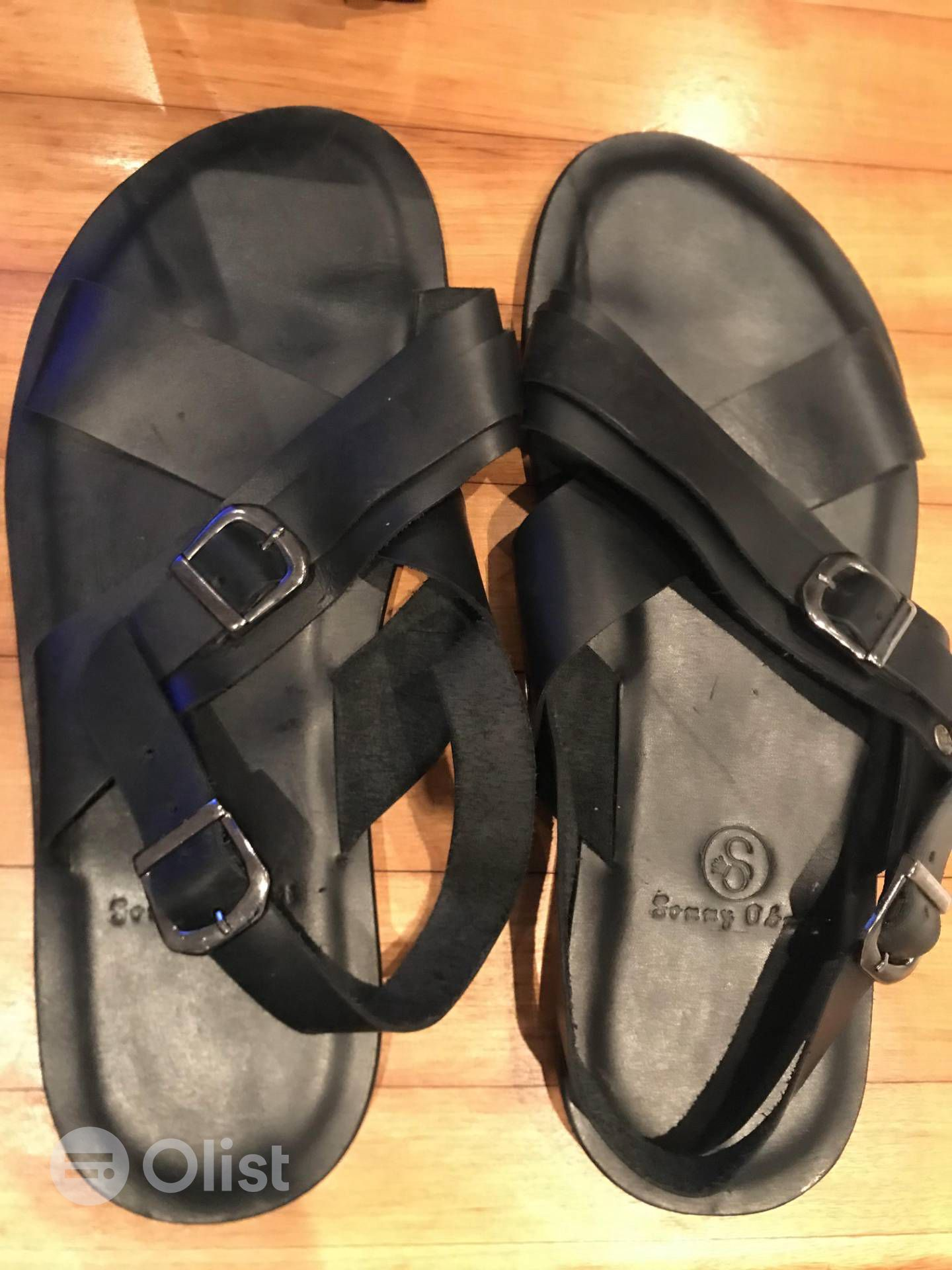 Leather Pam Sandals