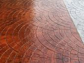 Stamped concrete pool trowel and edger Colour Hardener Release agen