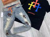 palm angels round necks and jeans for sale