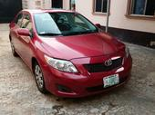 2009 Toyota Corolla Red Automatic Nigerian Used