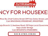 Vacancy for HouseKeepers