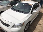 2010 Toyota Corolla White Automatic Foreign Used
