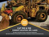 PAYLOADERS CAT 950 AND 930 NOW AVAILABLE FOR HIRE AT AFFORDABLE RATES