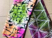 adire silk materials mixed with adire chiffon materials