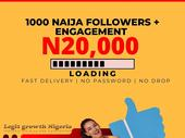 DO YOU NEED NIGERIA FOLLOWERS WITH ENGAGEMENT HURRY NOW