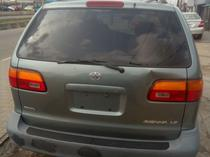 2000 Toyota Sienna Green Automatic Foreign Used
