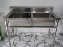 double bowl industrial sink