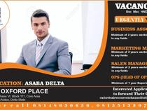 Vacancies for position of Business Associates