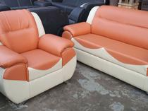 Quality Cream Leather Sofa