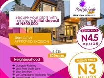 600sqm LAND AVAILABLE FOR SALE IN IBEJU LEKKI