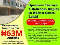 Spacious 4 Bedroom Terrace Duplex at Eden's Court, Chevron Drive