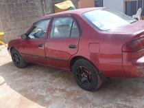 2003 Toyota Corolla Red Automatic Nigerian Used