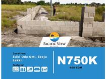 LAND FOR SALE AT PACIFIC VIEW ESTATE,ISIKI,ODE OMI, IBEJU-LEKKI
