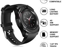 V8 Android Phone Smart Watch With SIM And Memory Card Port
