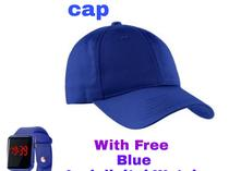 A Face cap with a free Led digital watch