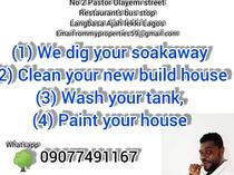 WE OFFER CLEANING SERVICES OF ALL TYPES WE DIG SOAK AWAY ETC